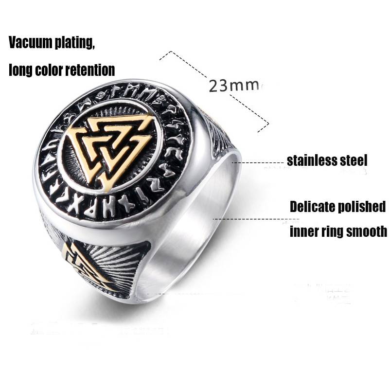 2019 stainless steel rings for men viking gothic wholesale lots bulk punk male man ring gold mens antique rings biker vintage in Rings from Jewelry Accessories