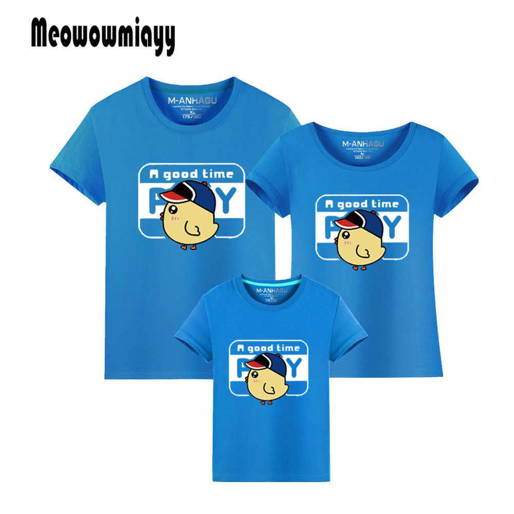 Семья футболка pay курица 2018 детская одежда с рисунком из хлопка коротким рукавом