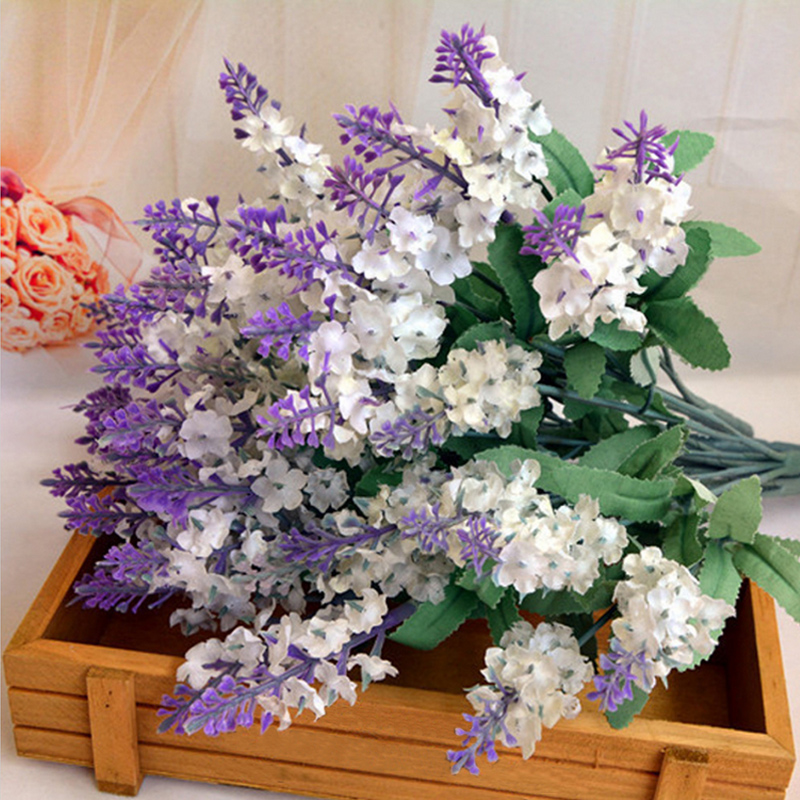 1pcs Whitepurple Simulation Lavender Artificial Flowers Home
