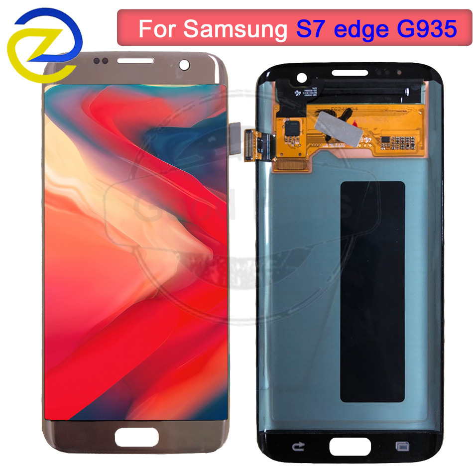 5.5 ''AMOLED pour SAMSUNG Galaxy s7 edge G935 LCD écran tactile numériseur affichage pour Samsung G935 G935F assemblée remplacement