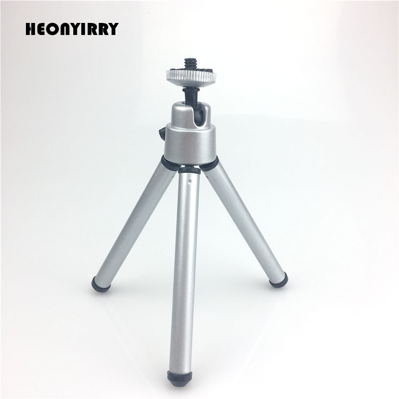 Flexible Lightweight Mini Tripod Aluminum Metal Tripods Stand Mount for Phone with Phone Clip Tripods for Xiaomi iPhone 5s/6/6s7