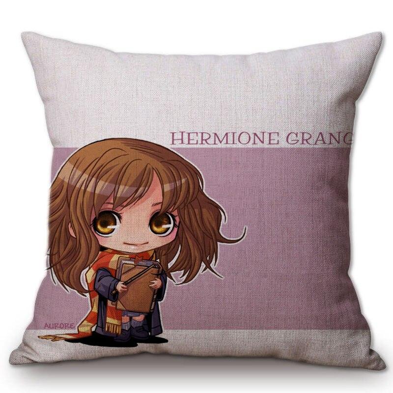 Adorable lindo personajes de dibujos animados de Harry Potter Casa Decor cojines para sofá decoración de la silla de cojín almohada