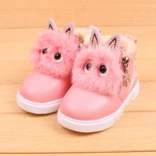 Winter Warm baby PU leather boots Children Fashion Boys Girls Sneaker Boots Kid Warm Baby Casual Shoes Lovely Soft(China)