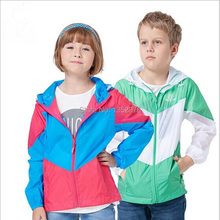 2015 Outdoor Sport Kids Skin Jacket Waterproof Sun & UV protection Children Boys Girls Coat Lightweight Quick-dry Hiking Jackets