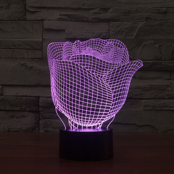 Valentinstag Geschenk Rose3d Led Lampe Bunten Gradienten Umgebungs Tisch 3d Leuchten Kinderzimmer Led Nacht Licht