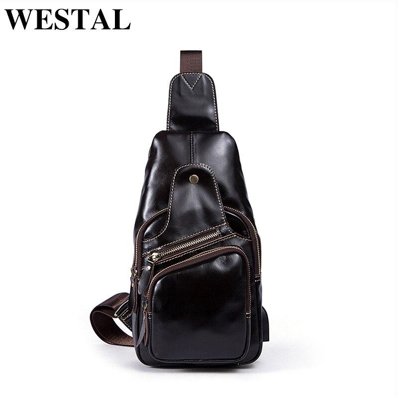 de82c4ccea5d WESTAL из натуральной кожи сумка мужская сумки на плечо мужской ремень сумки  кожа Повседневное Ил карман
