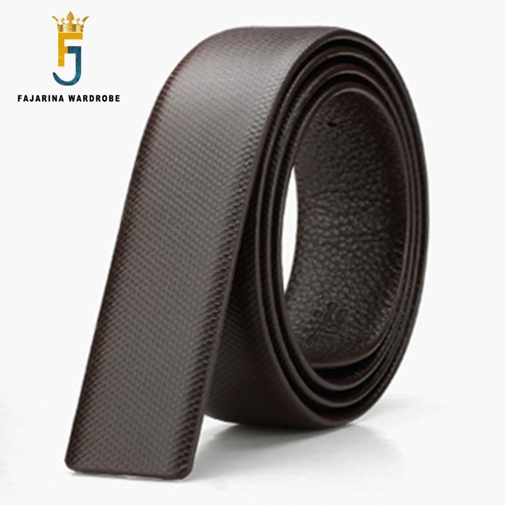 Automatic sliding buckle belt strap Strap only Br New Men's Leather belt strap