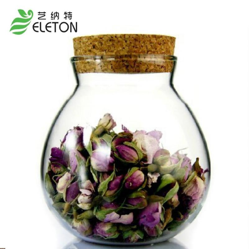 ELETON Verdickung handgemachtes Glas Tee-Set Kork Glasflaschen Korken Teekanne Vorratsbehälter Kaffeeflasche Bonbonglas Bonbons