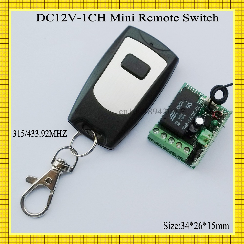 Mini Remote Switch 12v DC Programmable Wireless Remote Control Switch Switch Learning Receiver Waterproof Transmitter  315/433 dc12v rf wireless switch wireless remote control system1transmitter 6receiver10a 1ch toggle momentary latched learning code