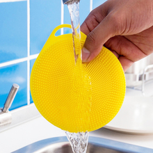 Silicone Magic Cleaning Brushes Dish Bowl Scouring Pad Pot Pan Easy To Clean Wash Brush Kitchen Tool