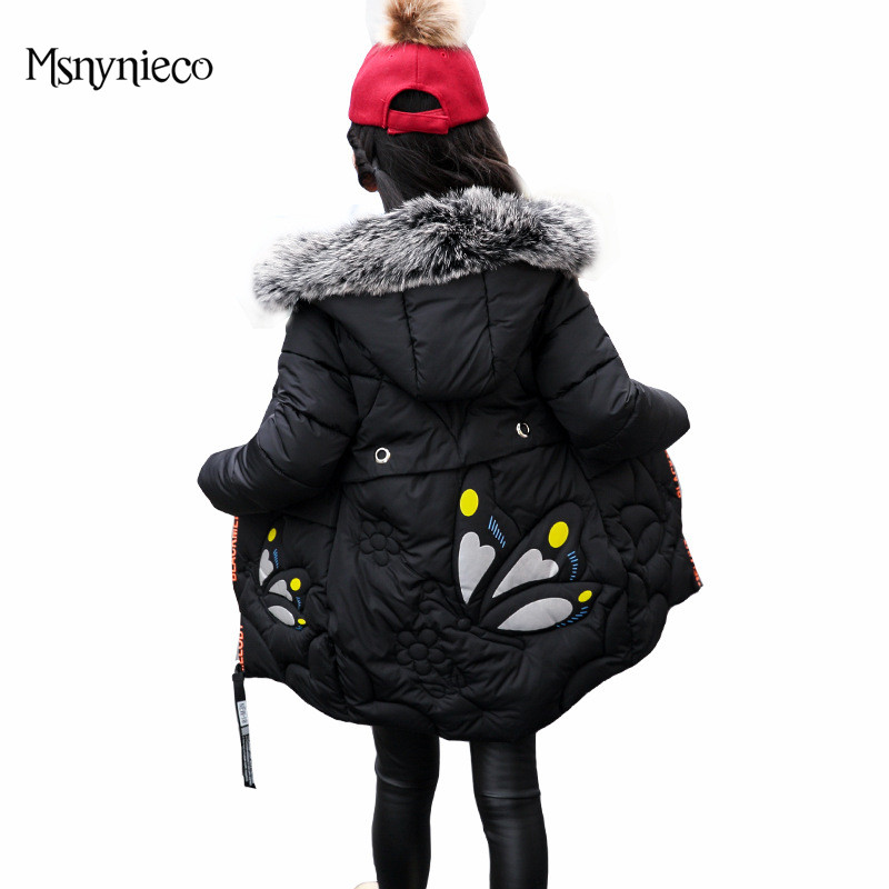 Winter Russia Girls Cotton Coats Baby Jacket Thick Warm Kids Outerwear Parkas  Children Clothing For 4 6 8 10 12 Years children winter coats jacket baby boys warm outerwear thickening outdoors kids snow proof coat parkas cotton padded clothes