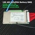 48 V 30A BMS LiFePO4 batería 3.2 V celular 16 S 48 V/51.2 V 30A BMS con equilibrio función Diferente carga y puerto de descarga