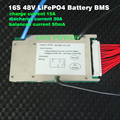 48V 30A LiFePO4 battery BMS 3.2V cell 16S 48V/51.2V 30A BMS with balance function Different charge and discharge port