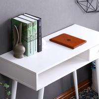 2018 New Design Bedroom Table Office Workstation Desk Table with drawer,Computer Writing Desk for Home White with Storage Drawer