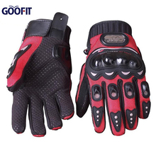 Goofit New Brand Black gray and Red Color No-Slip Motocross Racing Motorcycle and bike Gloves Full Finger gloves MCS-01B