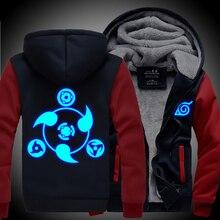 Neue winter mäntel NARUTO hoodie jacken licht Anime Zipper männer dicke strickjacke Sharingan