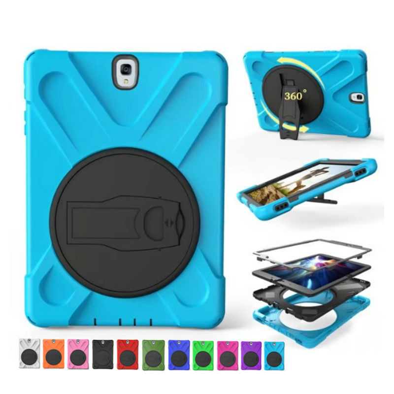 Tab S3 T820 Heavy Duty Tablet Case Fundas PC Silicon Armor Back Cover 9.7 for Samsung Galaxy Tab S3 T820 Protective Stand Holder