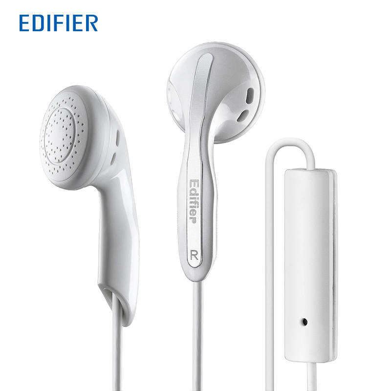 Edifier P180 HIFI Earphones High-end Performance Stereo Bass Earphone with Mic For Mobile Phone Tablet edifier p180 earphone with mic bass stereo headset hands free wired control earpiece hifi earbuds for smartphones