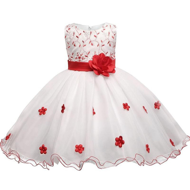e6d0f3dc5 Baby Girl Dress Flower Kids Christmas Dresses For Girls Tulle Children's  Princess Girl Party Wear Dress