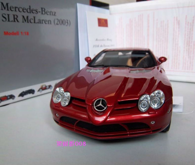 Cmc 1 18 Mercedes Benz Slr Mercedes Mclaren Slr Red Car Models In