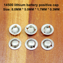 100pcs/lot Aa Battery 5th Spot Welding Cap Stainless Steel Positive Tip Accessories