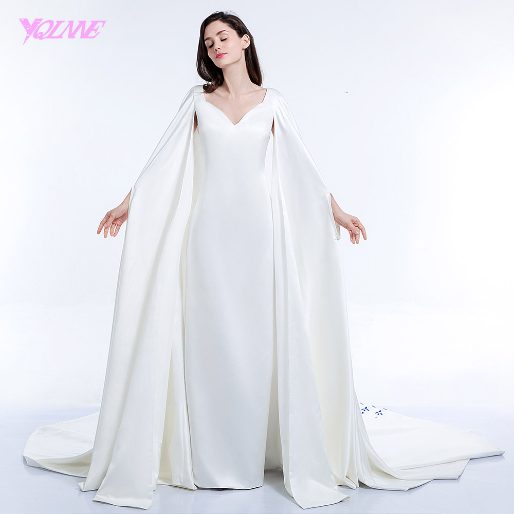 YQLNNE 2018 Arabic Prom Dresses Long Evening Gown Satin Runway Fashion Dress