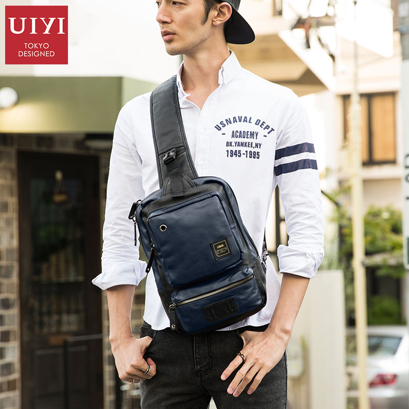 UIYI Brand PVC cross body Bags Men Casual Messenger Bag Small Brand Designer Male Shoulder Bag Single strap Men Travel New 2018 deelfel new brand shoulder bags for men messenger bags male cross body bag casual men commercial briefcase bag designer handbags