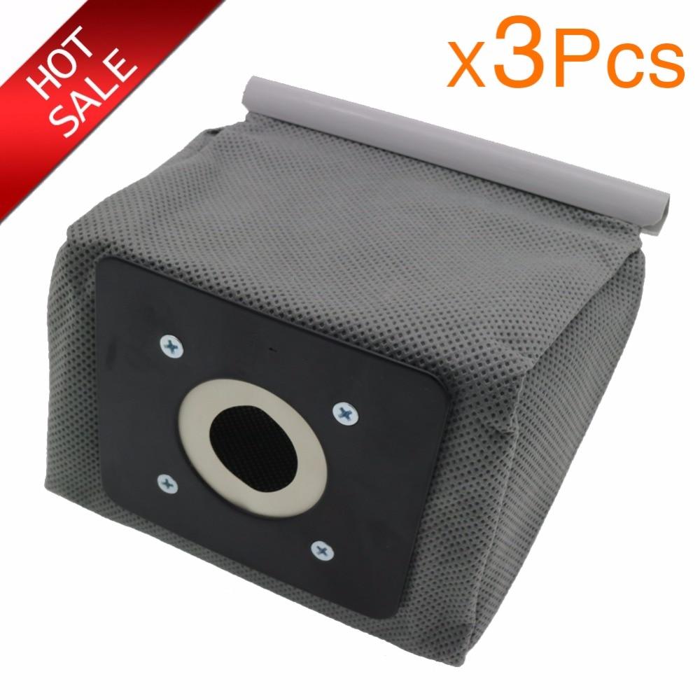 3pcs Universal Cloth Bag Washable Reusable Vacuum Cleaner Dust Bags Suitable For Philips Electrolux LG Haier Samsung Etc