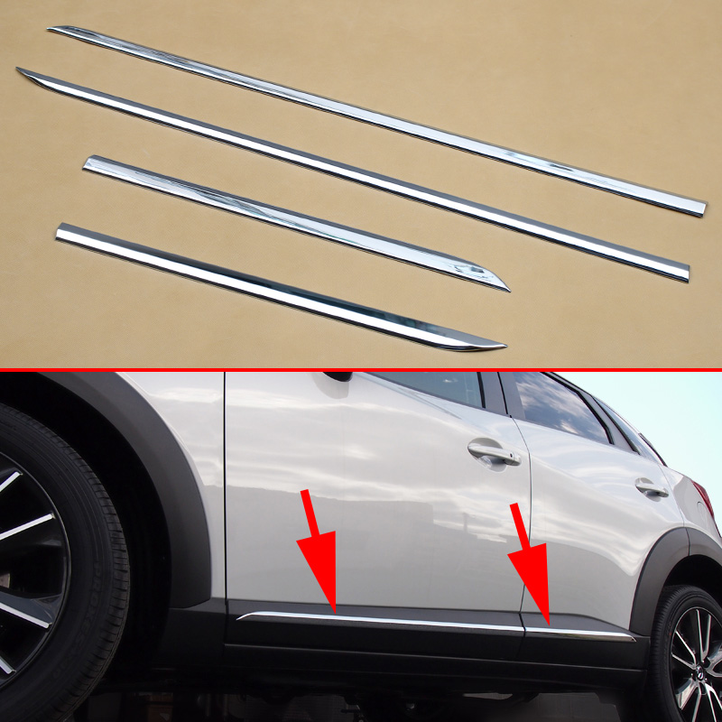 Bright Chrome Car Molding Door Body Protecter Strips For