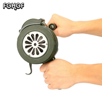 NEW Green Aluminium Alloy Crank Hand Operated Air Raid Emergency Safety Alarm Siren Home Self Protection