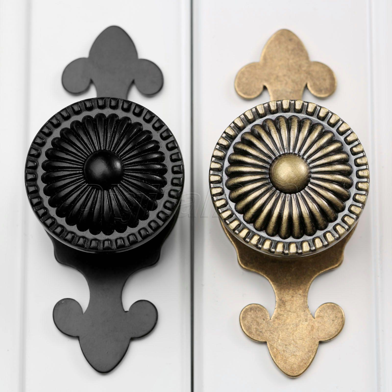 Bowarepro Antique Doorknob Drawer Knobs Gold Shoe Box
