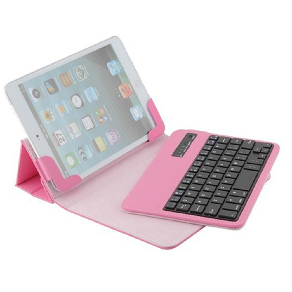 Wholesale Removable Wireless Bluetooth Keyboard Leather Solid Case Cover For Amazon Kindle Fire HD 7 7 Android 7inch Tablet PC ios windows android universal bluetooth keyboard abs leather case for 7 8 9 9 7 10 1 tablet pc case support russia keyboard