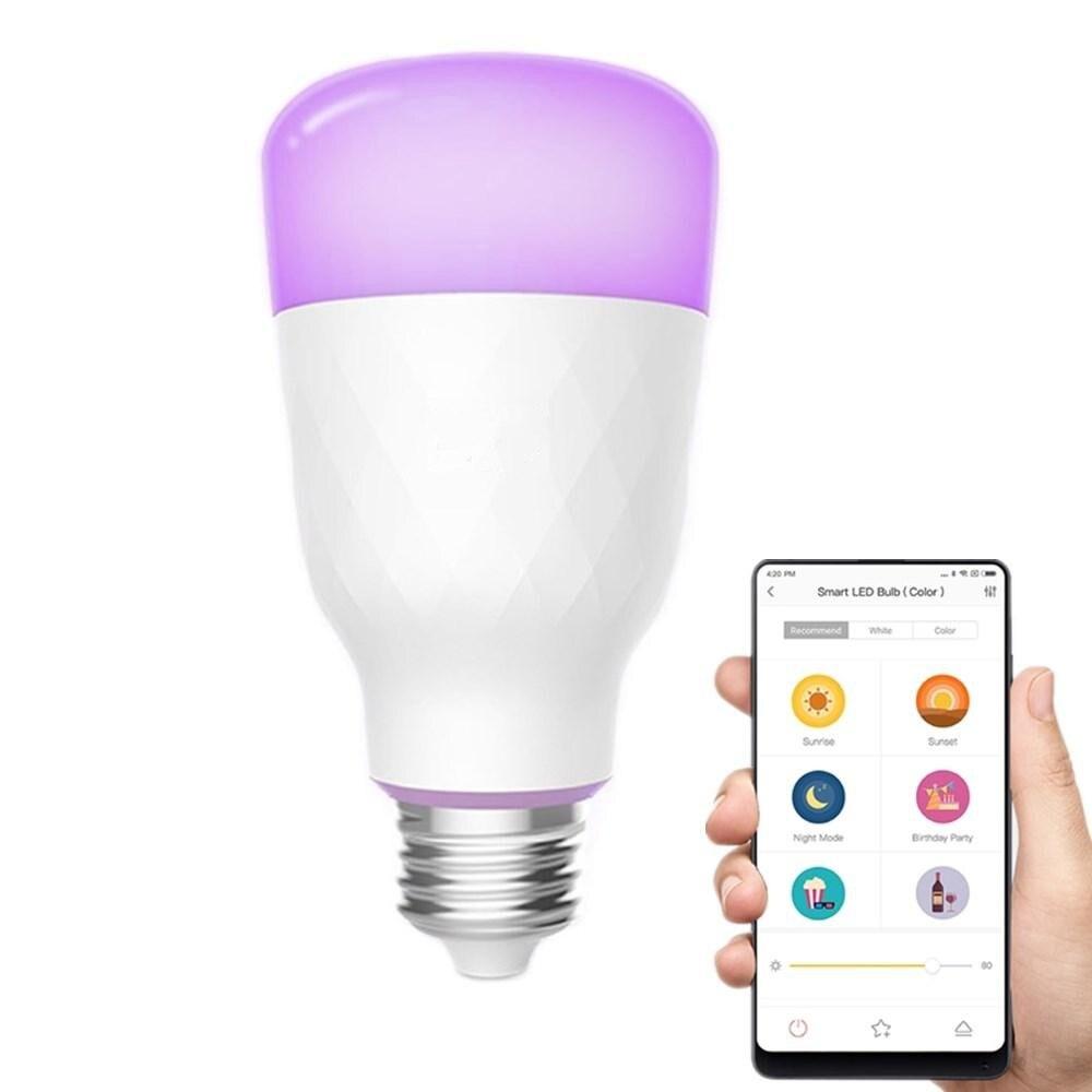 YLDP06YL E26 E27 10 W RGBW ampoule LED intelligente Contrôle De L'application Wifi AC100-240V MORUE