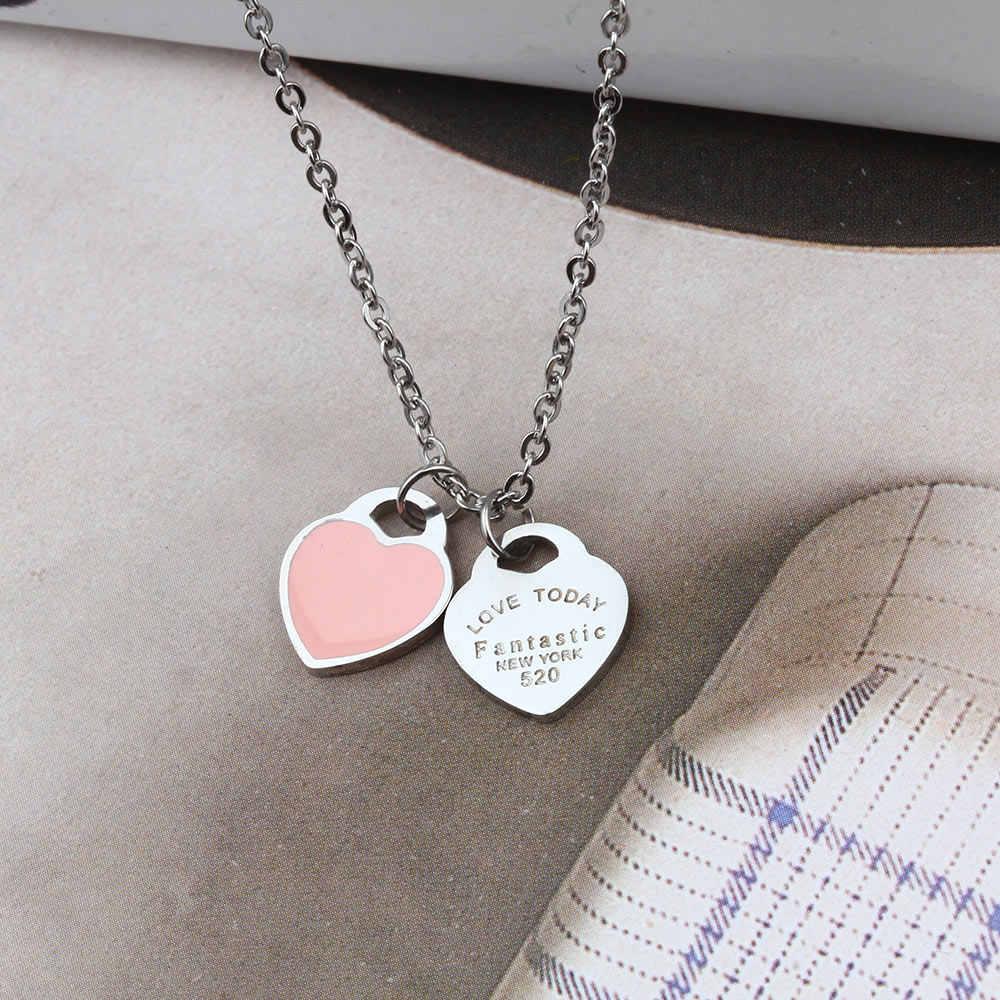 ZUUZ serce ze stali nierdzewnej naszyjniki i wisiorki dla kobiet biżuteria akcesoria biżuteria srebrna łańcuch femme najlepszych przyjaciół początkowej