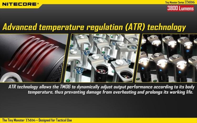 Preço de atacado Nitecore TM06 Tactical LED