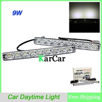 9W Universal Waterproof Lights 9 LED High Power Super Bright Car Daytime Running Light Car Head