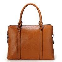 14 ноутбук сумка 100% из натуральной кожи модные женские туфли Сумочка Дамы OL/Бизнес Tote плеча Сумка Кошелек Сумка Черный