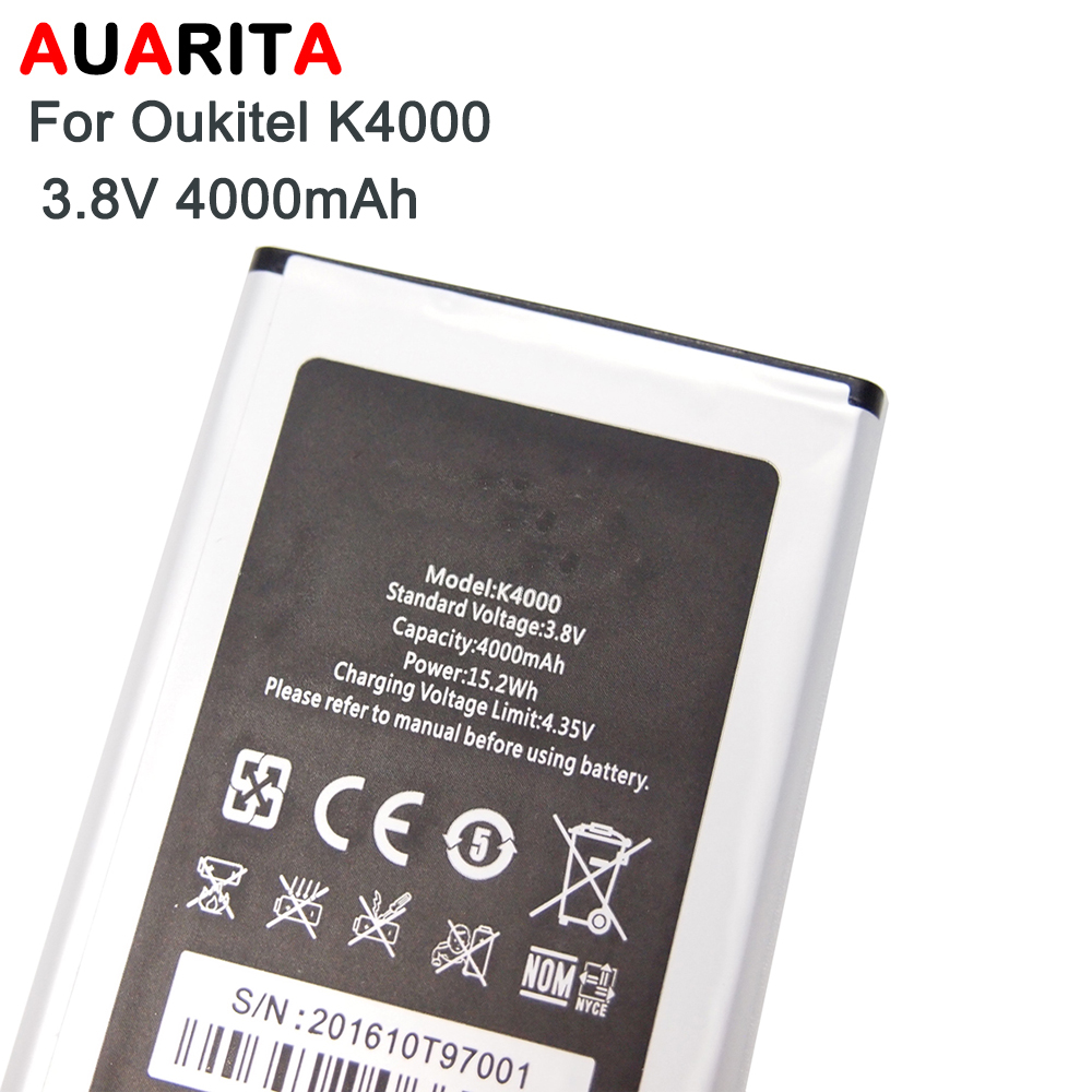 1pcs phone battery For Oukitel K4000 Battery Bateria Accumulator AKKU For Oukitel K4000 4000mAh not lite not pro