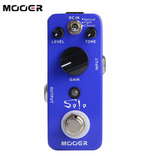 цена на NEW Effect Pedal/MOOER  Solo Distortion Pedal /Full metal shell True bypass