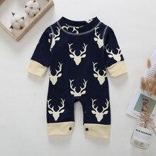 697ad02d9 Navidad ropa de bebé recién nacido bebé niños chicas venado mono mameluco  trajes ropa de moda forzosamente Bebe Garcon