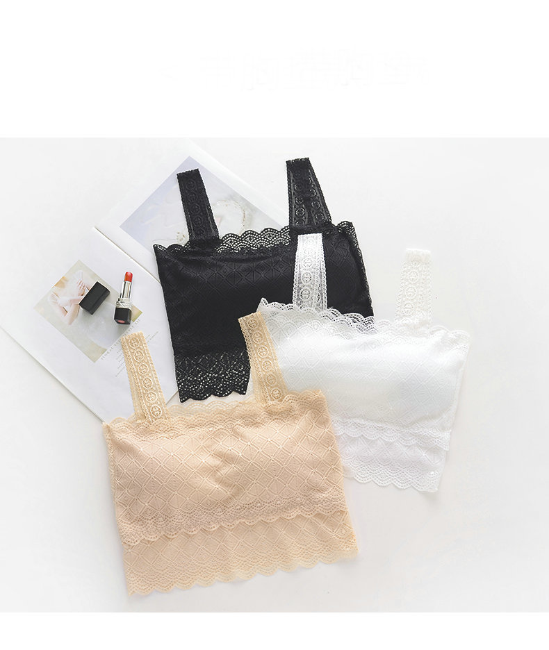 Wrapped chest underwear women Lace Tube Tops paragraph lingerie short for women Tube Tops Bra anti emptied Fashion Seamless Bras in Tube Tops from Underwear Sleepwears