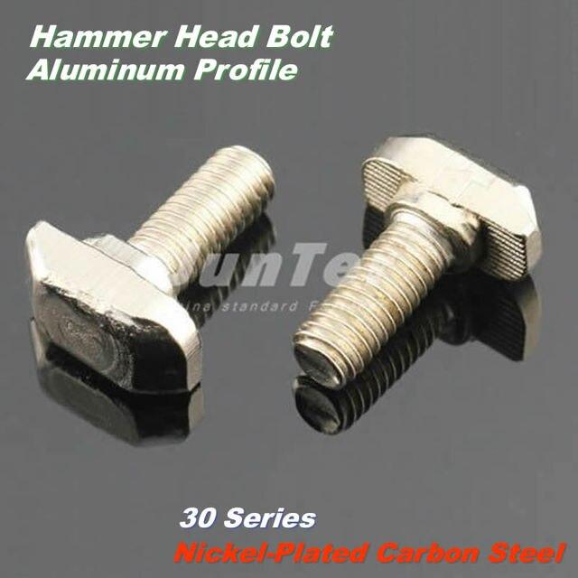 100 teile los m6 6mm vernickelt kohlenstoffstahl hammer. Black Bedroom Furniture Sets. Home Design Ideas