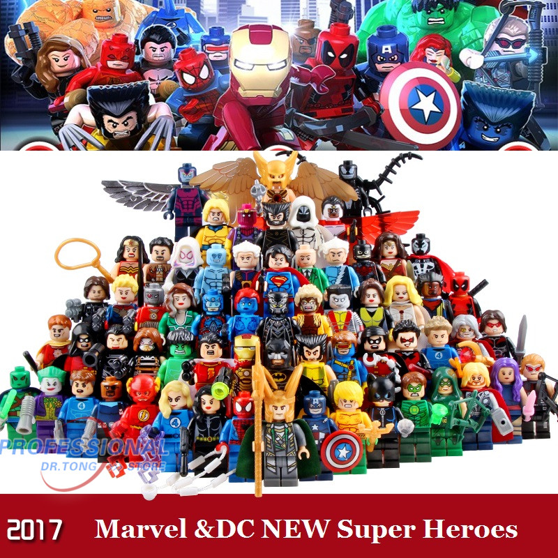 Marvel  DC Super Heroes Action Figures Building Blocks Guardians of the Galaxy Lepin Batman Hulk Deadpool Iron Man Mini Toys marvel platinum the definitive deadpool