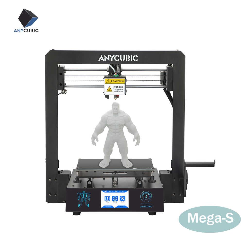 Новый 2019 Anycubic i3 Mega-S 3d принтер Обновление 3d печать наборы плюс размер Полный металлический сенсорный экран 3d принтер 3D Drucker Impresora