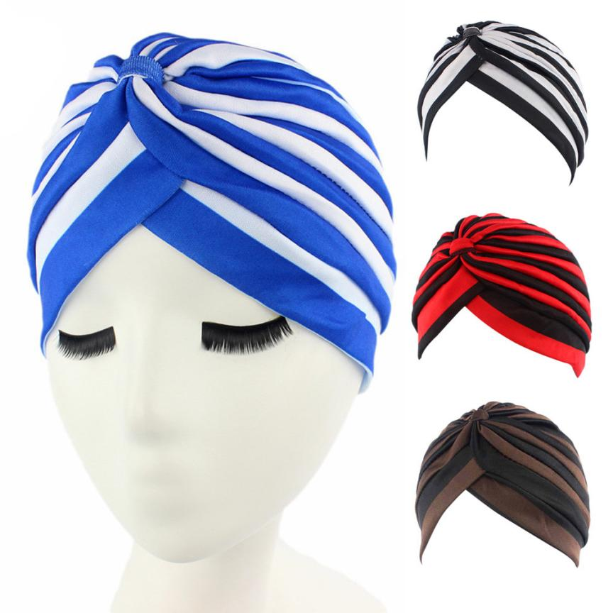 где купить Women New Elastic Cap Turban Muslim Cancer Chemo Hat Beanie Scarf Turban Head Wrap Cap breathable mesh turban chemotherapy по лучшей цене