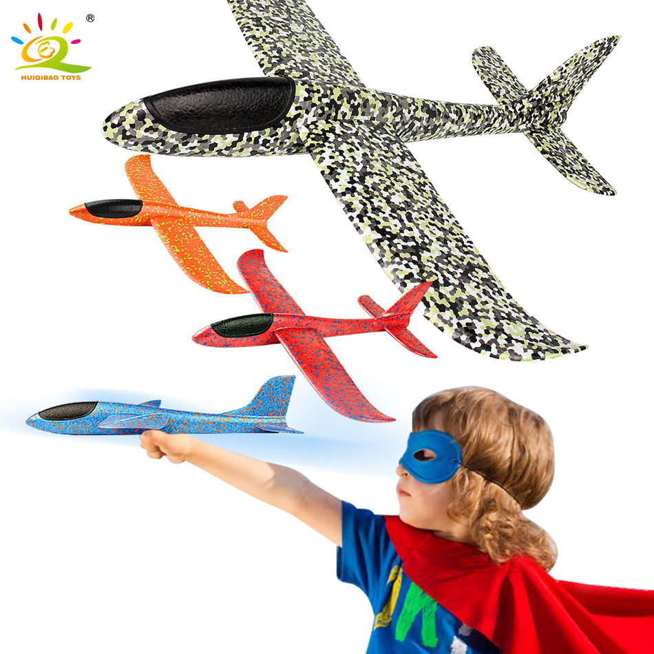 35CM Hand Throw Flying Glider Planes EPP Airplane Model Foam Fillers Aircraft Outdoor Activities Camping Toys For Children