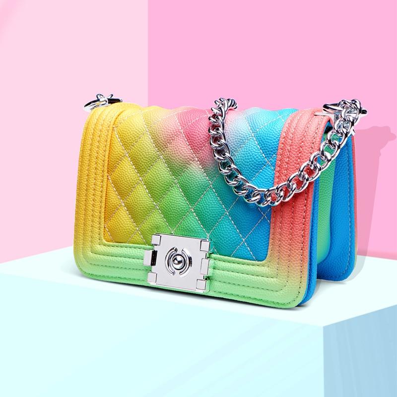 TANGDE chaîne arc-en-ciel crossbody sacs pour femmes 2019 sacs à main de luxe femmes sacs designe bolsa femininar