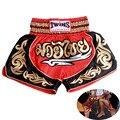 Nueva Marca pantalones cortos MMA boxeo muay thai pantalones cortos de boxeo pantalon pantalonetas medias lucha Gimnasio pantalones cortos para Hombres niños