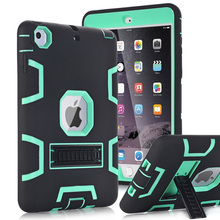 For Apple iPad Mini 1/2/3 Case Cover High Impact Resistant Hybrid Three Layer Heavy Duty Armor Defender Full Body Protector Case