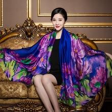 Scarfblog Emulation Silk Scarf Luxury Brand Floral Winter Scarf Blanket Bufanda Ponchos Capes Neck Warmer Sjaal Shawl Echarpe
